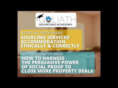 Ep 14: Sourcing Serviced Accommodation Correctly; The Power of Social Proof To Close Property Deals