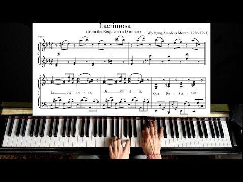 Mozart - Lacrimosa - Piano Tutorial (Plus Sheet)