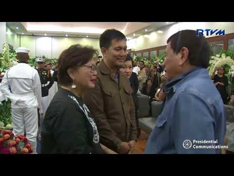 Visit to the Wake of Former National Security Adviser Jose Roilo Golez 6/14/2018