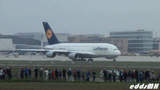 TOPVIDEO: Airbus A380  am Flughafen Stuttgart