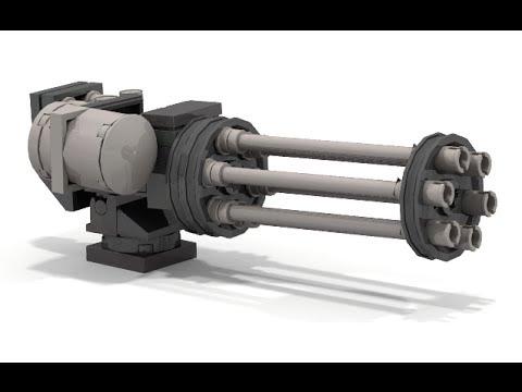 How To Build a Lego GATLING GUN - YouTube