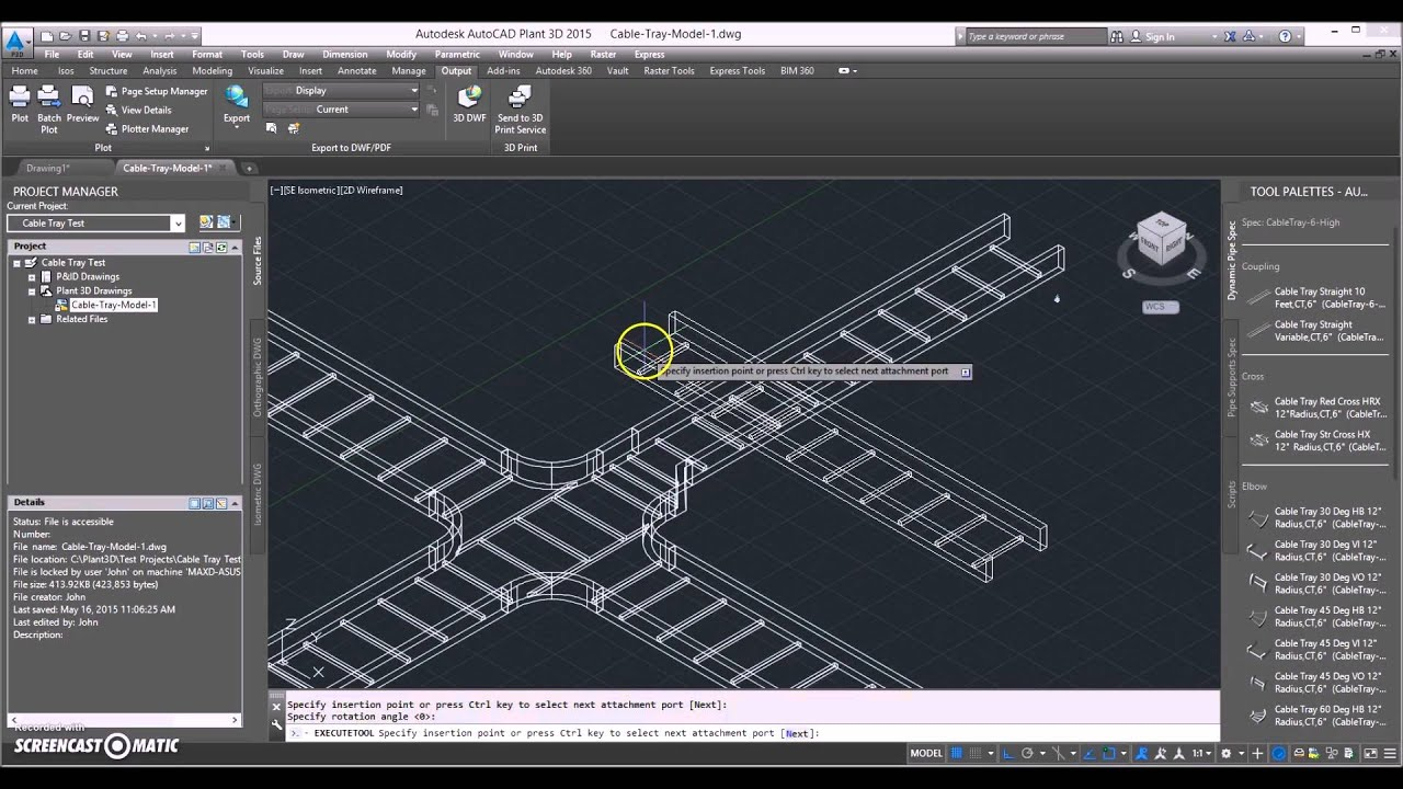 Autocad Plant 3d Cable Tray System Youtube