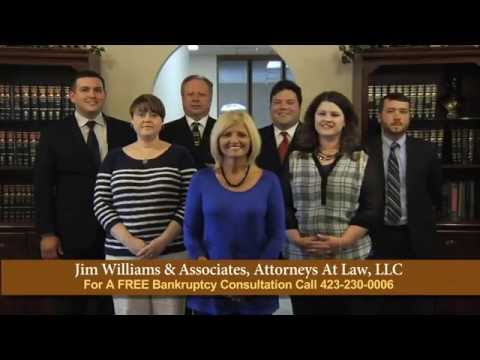 Bankruptcy Attorney serving Kingsport and Johnson City, TN.  Jim Williams and Associates Attorneys at Law.  Experienced Lawyers.  When results matter the most!