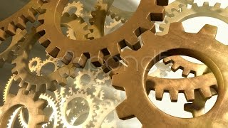 Gears In Motion - Closeup. Stock Footage
