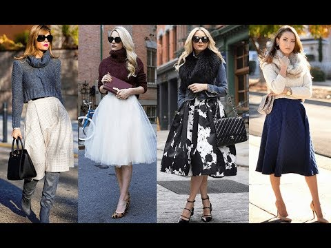 b44603a6d The best winter midi skirt outfits - YouTube