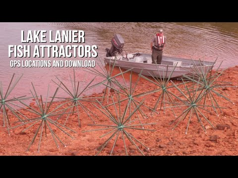 Lake Lanier DNR Fish Attractor Locations - Where Are They?