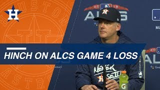 ALCS Gm4: Hinch on difficult Game 4 loss to Red Sox