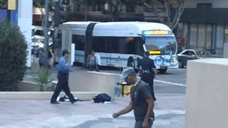Large Woman Fights Two LAPD Cops - Downstreet$ PART 1