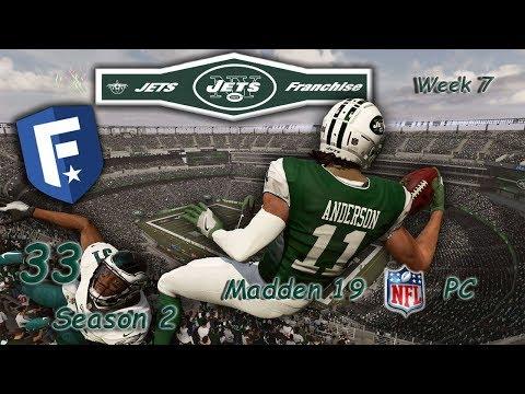 Madden 19 PC / Jets Rebuild – S2/RS Wk 7 vs Eagles – Ep  33