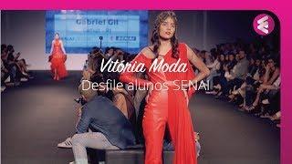 Desfile de abertura do Vitória Moda 2017 - alunos do Senai CETIQT