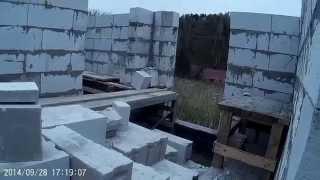 Строительство дома из газобетона 3. Консервация(Процесс достроительства заснять не получалось. Показываю почти достроенный 1 этаж и как мы отправили в..., 2015-03-26T04:53:49.000Z)