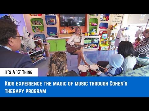 Kids experience the magic of music through Cohen's therapy program