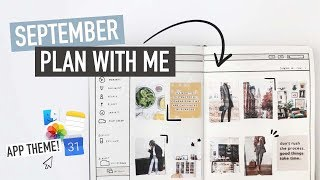 Bullet Journal SEPTEMBER PLAN WITH ME 2019 | vertical weekly spread + vision board