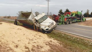 Grain Truck Rollover Accident - Part 1- I'm Lucky To Be Alive