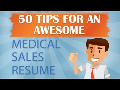 MedReps 50 Tips for an Awesome Medical Sales Resume Part 1 - YouTube