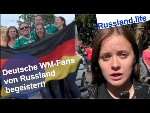 Fußball-WM: Deutsche Fans von Russland begeistert!