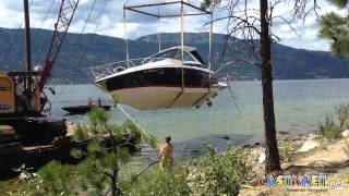 RAW: Beached boat removed