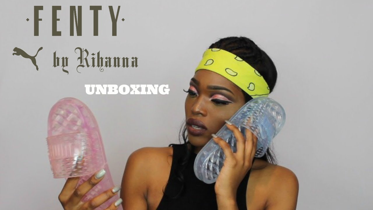 3151cfac008c Rihanna X Puma Jelly Slides Unboxing   Review
