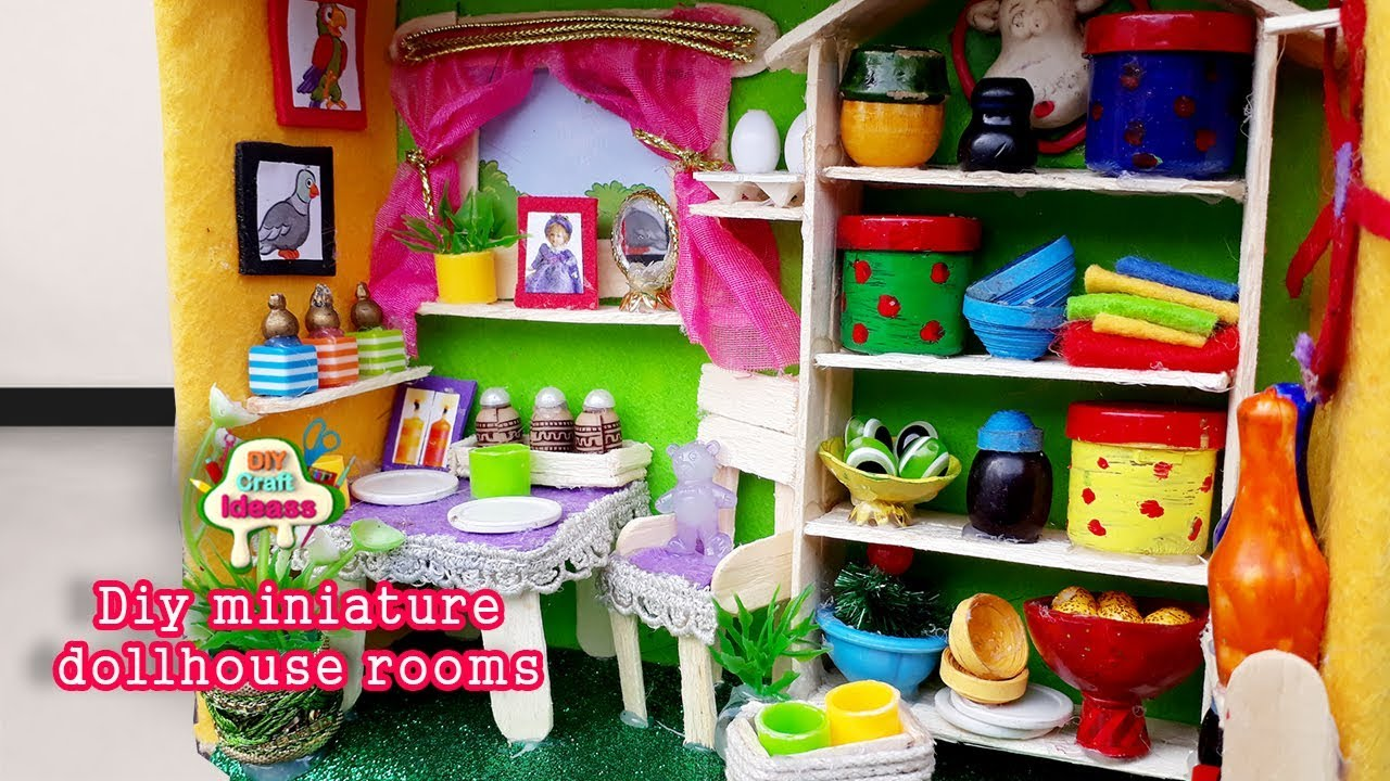 Shoe Box Dollhouse Craft For Kids: Doll Making For Kids Miniature House Of Doll Dollhouse Kit