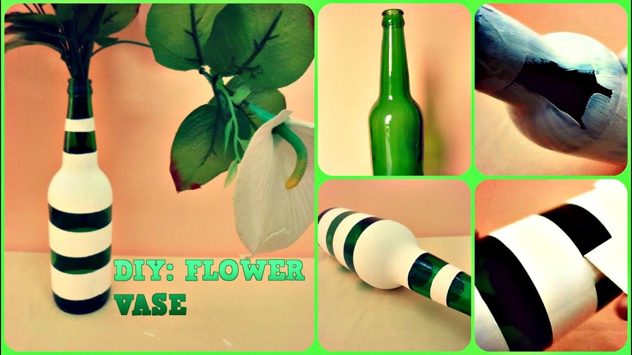 Diy flower vase from waste bottle youtube for Handmade flower vase with waste material