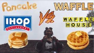 IHOP Pancacke vs Waffle House Waffle (Alexa Chanel RoofTop Taste Test)