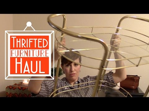 Mammouth Thrift Store Furniture Haul! l A THRIFTY MISS