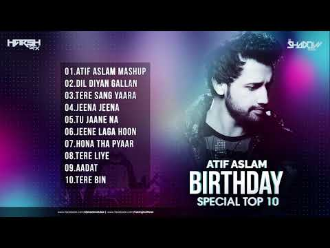 Atif Aslam Birthday Special TOP 10 | DJ Shadow Dubai Remixes | Audio Jukebox