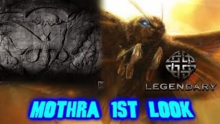 Legendary Mothra First Look!  Stone tablet etching of Mothra, Larva, and egg revealed!