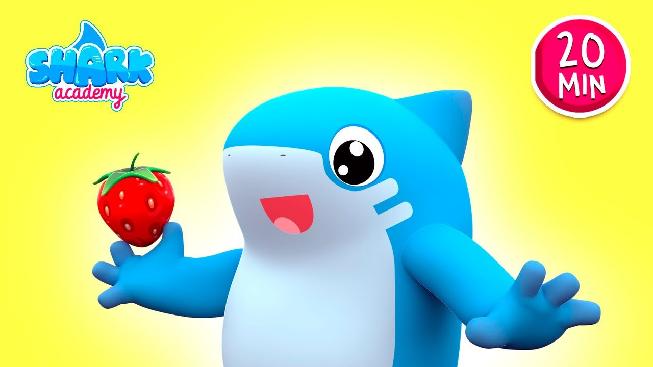 Shark Academy - SHARKS learn about HONEYBEES - Baby Shark Nursery Rhymes for Children