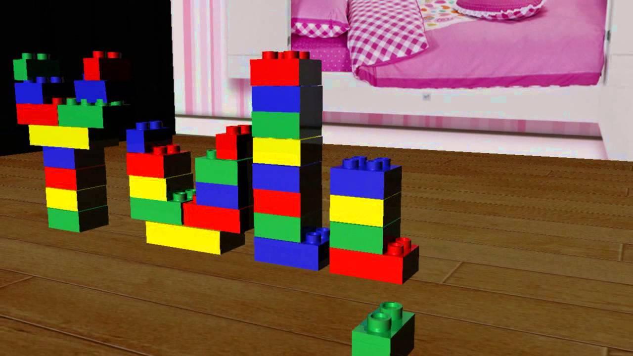 Animaci n de nombre con piezas de lego 39 yuli 39 youtube - Piezas lego gigantes ...