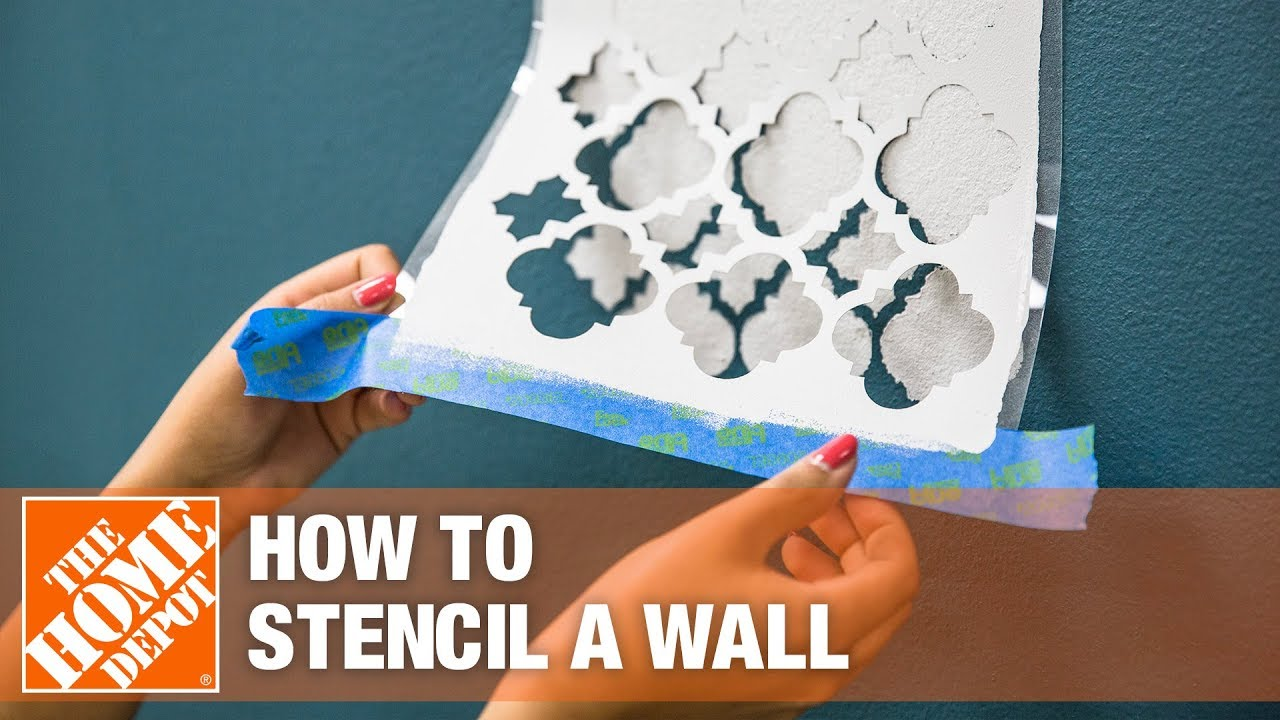How To Stencil A Wall With Paint The Home Depot