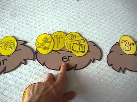 Grade 1 Reading Phonics Spelling Game Match Eggs To Bird Nests With Ur Er Ir Sounds Youtube