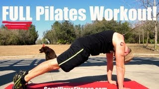 10 min FULL Pilates Ab Workout w/ Sean Vigue Fitness - Classic Pilates Exercises