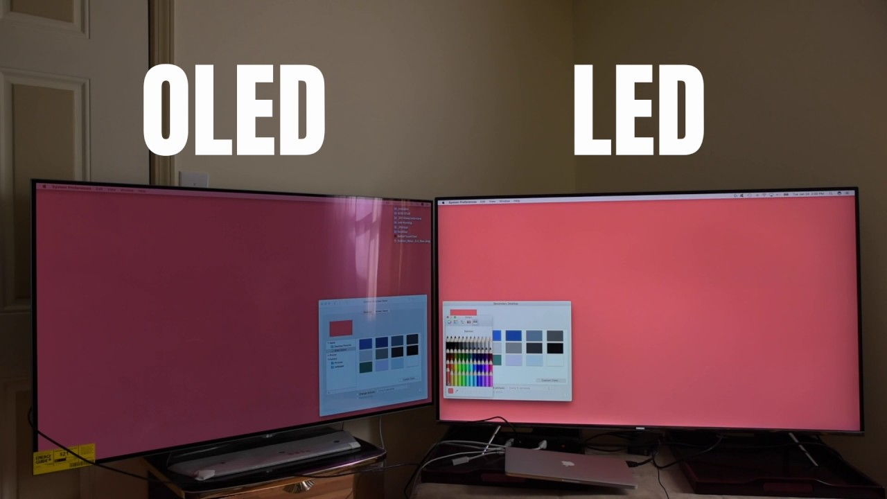 Oled Vs Led Tv Gets Too Dim During Bright Scene Youtube