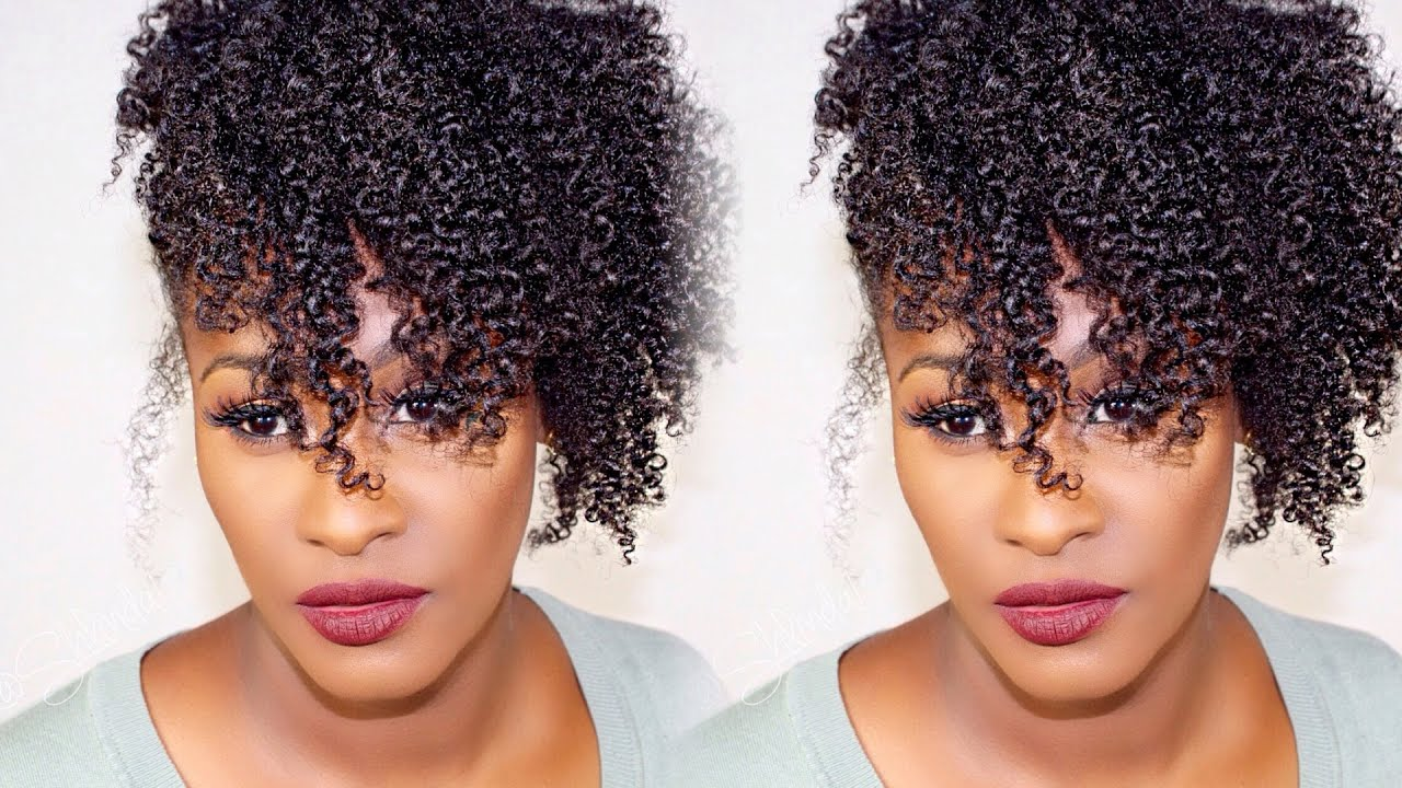 natural hair wash and go styles amp easy hairstyle wash n go side puff updo 1276 | maxresdefault