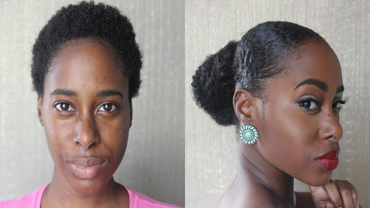 Sleek updo on twa short natural hair youtube pmusecretfo Image collections