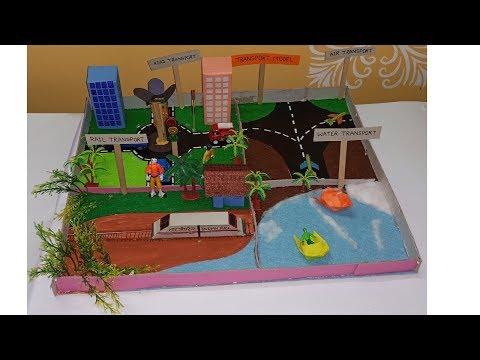 Transport Model | Project On Means Of Transportation | School Craft|
