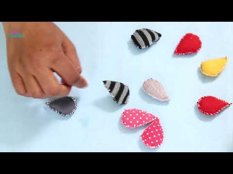 How To Make Cloud And Raindrops From Old Clothes - DIY Crafts