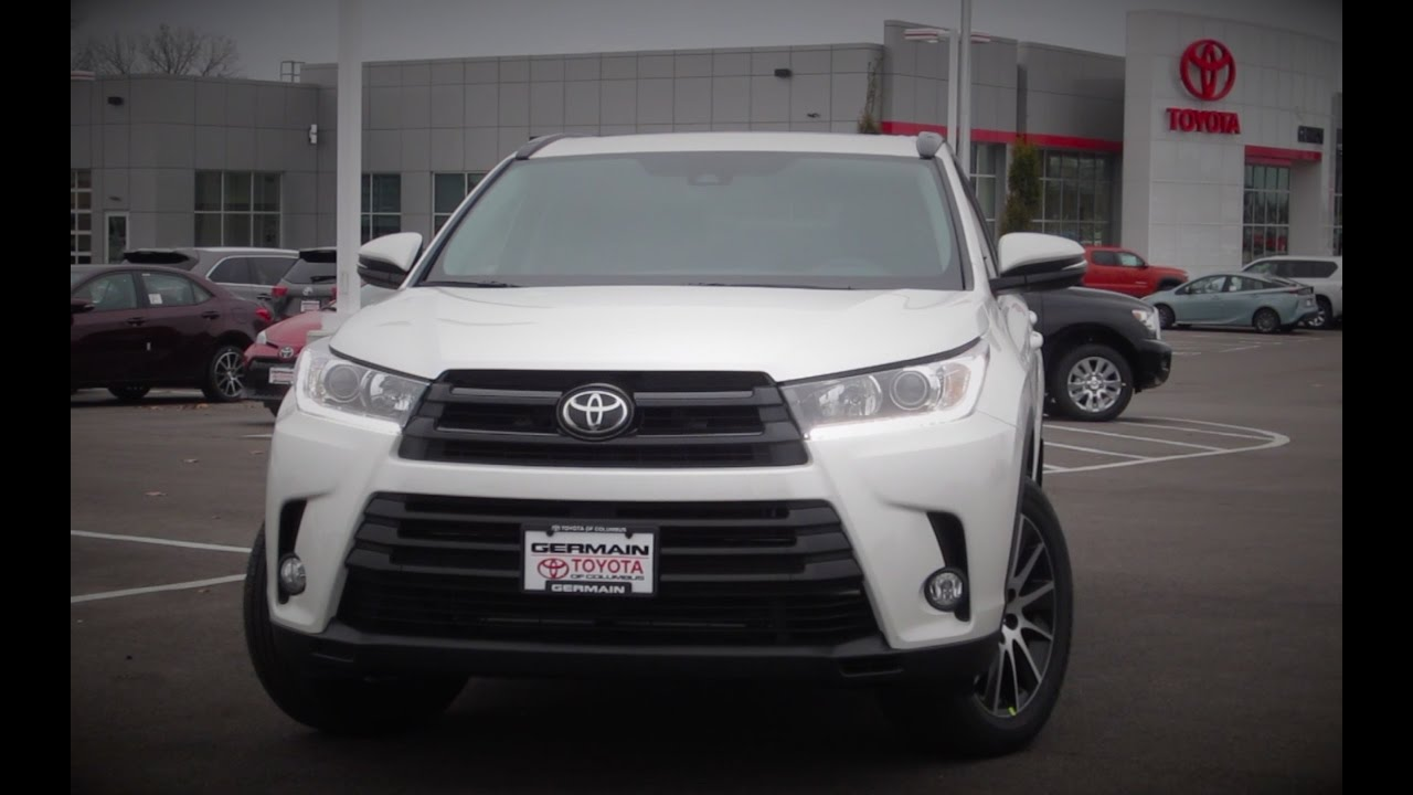 new 2017 toyota highlander se review youtube. Black Bedroom Furniture Sets. Home Design Ideas