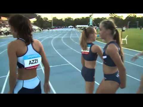 U14 80m Women Hurdles - Final - Australian Junior Athletics Championships