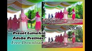 Gambar cover Preset Lumetric Adobe Preimer Free Download