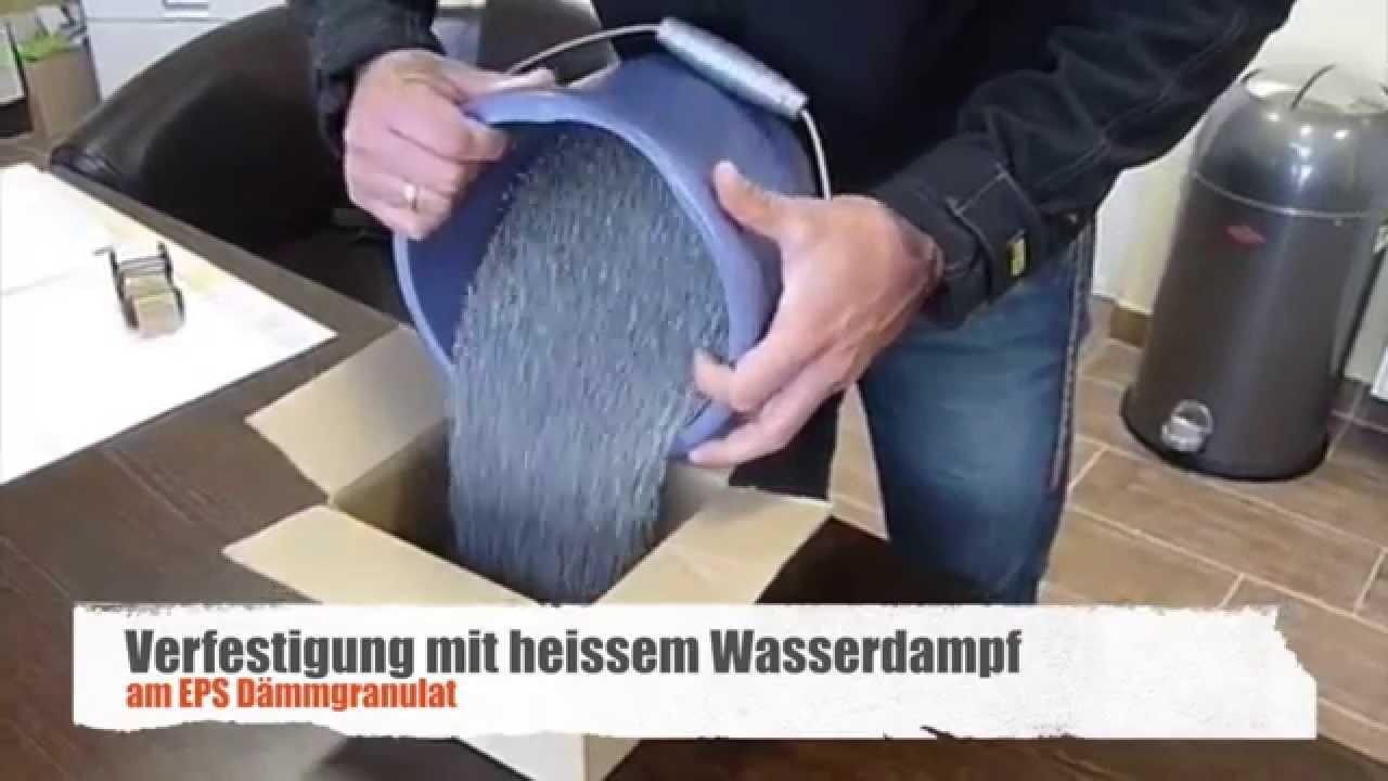 Fußboden Dämmung Eps ~ Verfestigung von eps dämmgranulat youtube