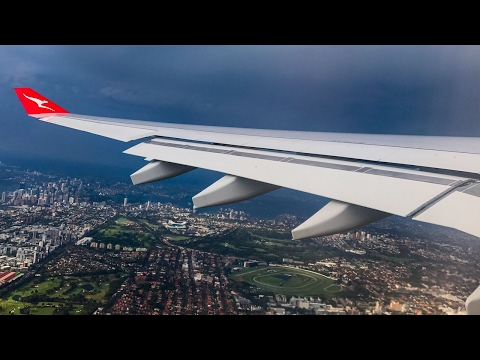 Qantas A330-300 'NEW LIVERY' Inflight Takeoff from a STORMY Sydney Airport