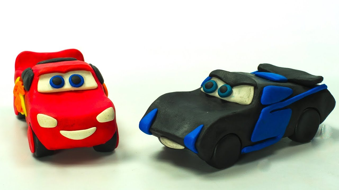LIGHTNING Strikes ⚡️  Lightning McQueen Jackson Storm In the Make Play Doh Cartoon STOPMOTION CARS⚡️