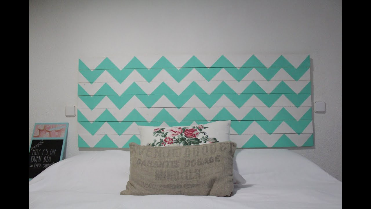 C mo pintar un cabecero de madera con chevron facilisimo for Como decorar tu pared