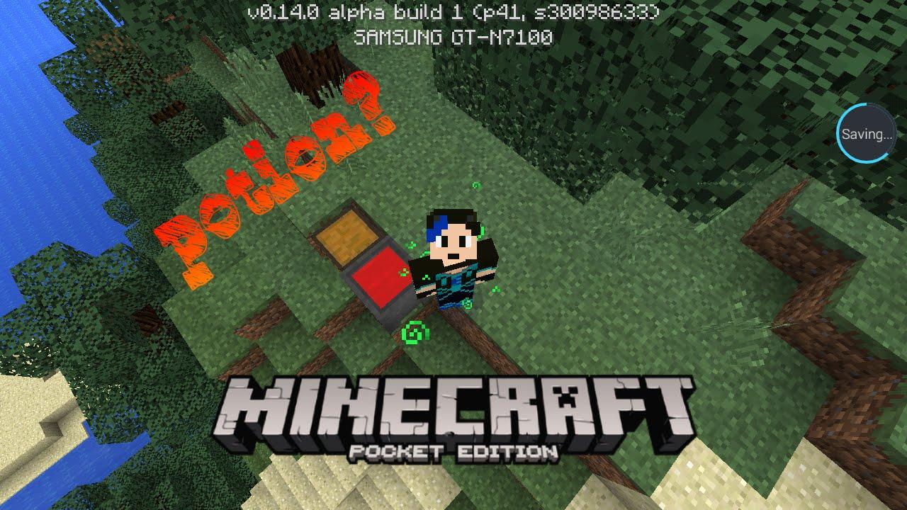 Mcpe 0140 Hidden Features Pour Potion Into Cauldron Youtube