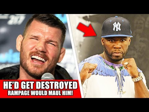 Bisping RIPS 50 Cent for MMA call out, says Rampage Jackson would Destroy Him