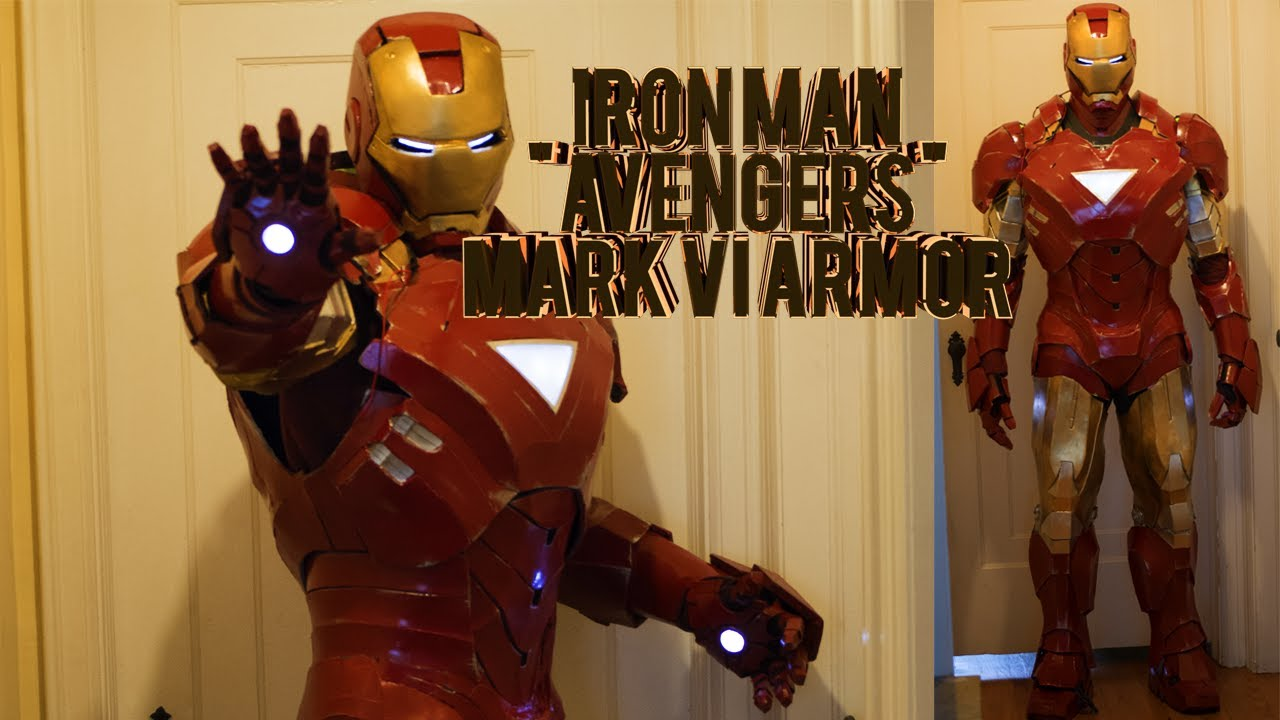 Iron Man Mark 6 Costume Homemade Foam Avengers Armor Pepakura