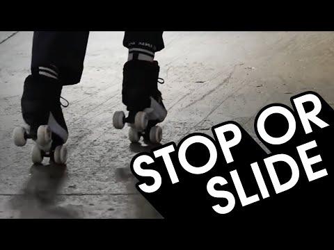 HOW TO STOP OR TRICK SLIDE ON ROLLER SKATES TUTORIAL // VLOG 97
