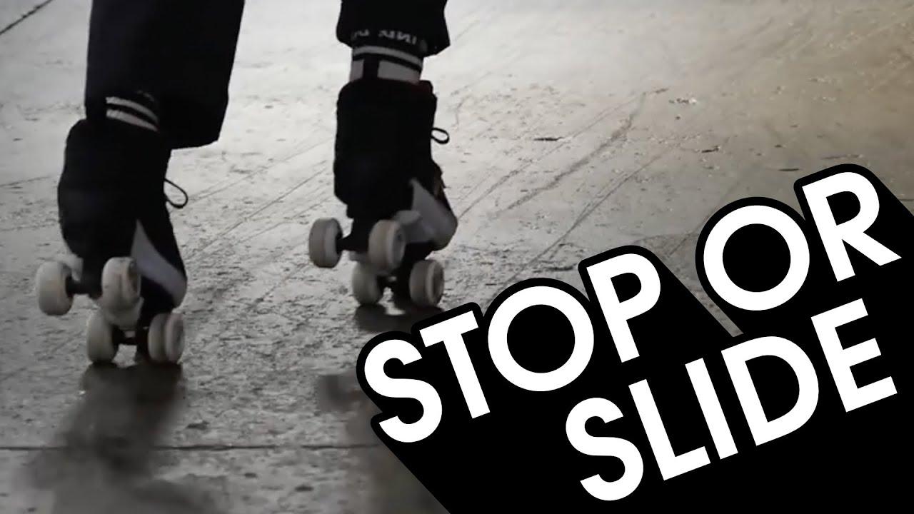 Download HOW TO STOP OR TRICK SLIDE ON ROLLER SKATES TUTORIAL // VLOG 97